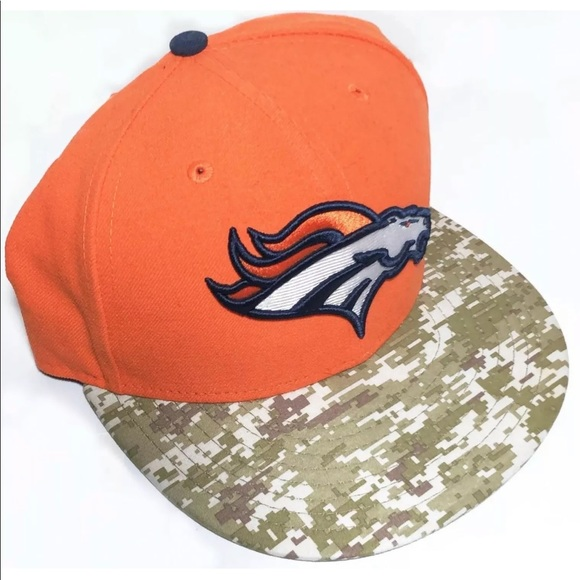 Other - Denver Broncos NFL Fitted Hat Camo Support Troops